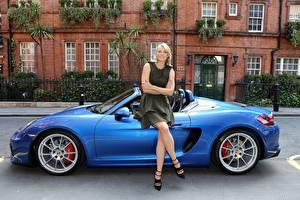 Картинка Мария Шарапова Porsche Знаменитости Девушки