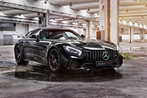 Картинки Мерседес бенц Металлик Черный 2018 Edo Competition AMG GT R Авто