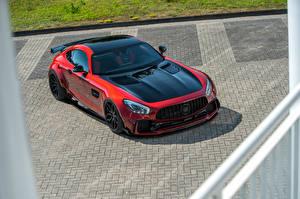 Обои Мерседес бенц Красный Металлик 2018 Prior-Design AMG GT S PD700GTR Авто