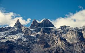 Фотографии Горы Австрия Альпы Природа