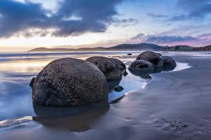 Фотографии Новая Зеландия Берег Камень Waikawau Bay Природа