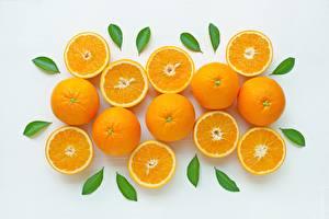 Картинки Апельсин Текстура Листва