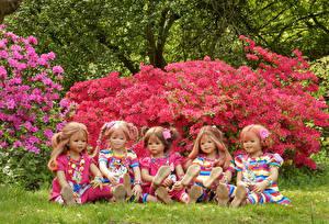 Фотография Парки Рододендрон Куклы Девочка Grugapark Essen
