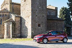 Картинки Рено Красный Металлик 2016-17 Clio Worldwide Автомобили