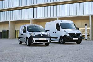 Картинки Рено Два Белый 2018 Kangoo Renault Master Автомобили