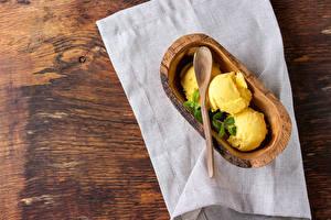 Обои Сладости Мороженое Желтый Шарики Продукты питания