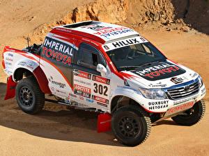 Картинка Стайлинг Toyota Гонки Пикап кузов 2012 Hilux rally car машины