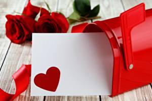 Фотография День всех влюблённых Сердечко Шаблон поздравительной открытки