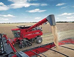 Обои Сельскохозяйственная техника Поля Зерноуборочный комбайн 2015–17 Case IH Axial-Flow 9240