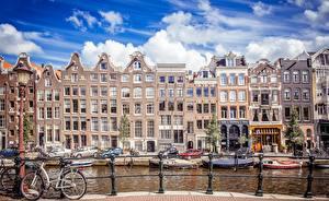 Фотография Амстердам Нидерланды Дома Города