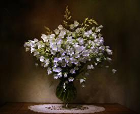 Картинка Букеты Колокольчики - Цветы Ваза Цветы