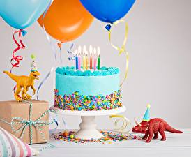 Фотография Торты Свечи День рождения Продукты питания