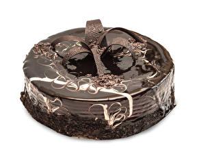 Обои Торты Сладкая еда Шоколад Белый фон Дизайн Пища