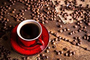 Картинки Кофе Доски Чашка Зерна