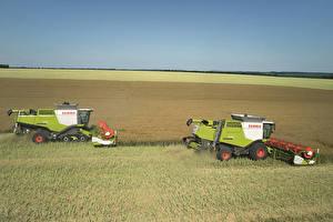 Фото Поля Сельскохозяйственная техника 2 Claas Lexion 770 Claas Lexion 670