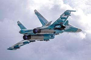 Фото Самолеты Истребители Полет Су-34 Русские