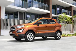 Картинки Форд Оранжевый Металлик 2018 EcoSport Trend Машины