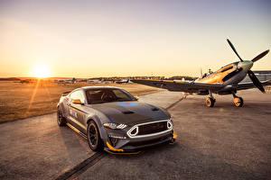 Обои Ford Самолеты Серый 2018 Eagle Squadron Mustang GT Машины