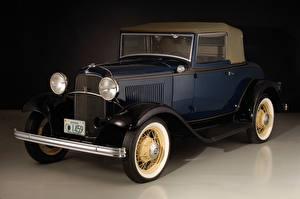 Фотографии Форд Винтаж Синий 1932 V8 Cabriolet Авто