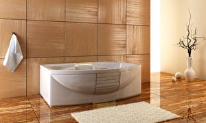 Фотография Интерьер Дизайн Ванная 3D Графика