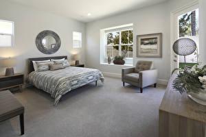 Обои Интерьер Дизайн Спальня Кровать Кресло