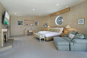 Фотография Интерьер Дизайн Спальня Кровать Диван