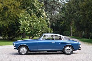 Обои Lancia Ретро Синий Сбоку 1952 Aurelia Coupe Vignale Авто