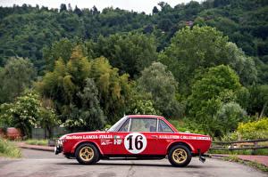 Обои Lancia Винтаж Тюнинг Красный Сбоку 1970-74 Fulvia Coupé 1600 HF Corsa Автомобили
