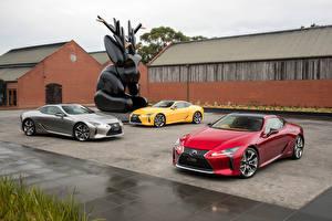 Картинка Lexus Три LC машины