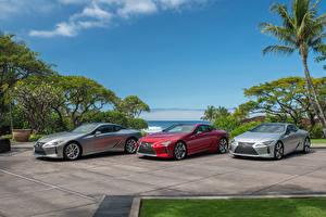 Фотографии Lexus Трое 3 LC машины