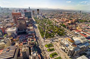 Фотография Мексика Дома Мегаполис Улица Mexico Города