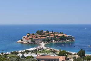 Картинки Черногория Здания Берег Kotor Bay