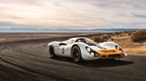 Фотография Порше Белый Скорость Coupe 908 Kurzheck Машины