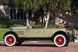 Обои Ретро Сбоку Кабриолет 1927 Pierce-Arrow Model 80 4-passenger Touring Автомобили