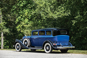 Фото Винтаж Синий Металлик 1933 Pierce-Arrow Model 836 Enclosed Drive Limousine Авто