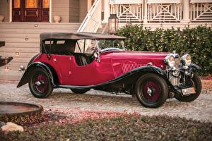 Картинка Винтаж Красный Металлик 1934 Lagonda 16-80 Tourer Машины