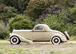 Картинки Винтаж Сбоку 1934 Pierce-Arrow Model 840A 2-passenger Coupe Автомобили