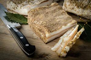 Фото Сало Нарезанные продукты Продукты питания