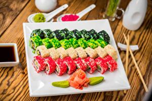 Фотография Морепродукты Суси Дизайн Пища