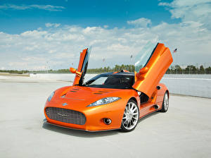 Фотографии Спайкер Оранжевый Металлик 2009 C8 Aileron Prototype Авто
