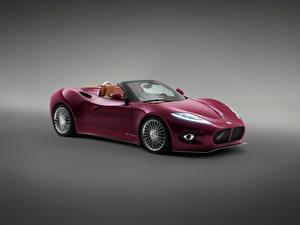 Обои Спайкер Серый фон Бордовый Кабриолет 2013 B6 Venator Spyder Concept Авто