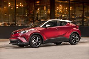 Обои Toyota Красный 2018 C-HR Автомобили картинки