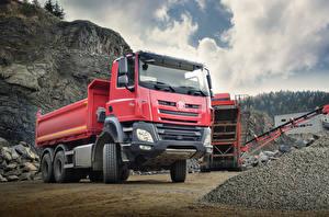 Фото Грузовики Красный 2014-18 Tatra Phoenix T158-8P6R33 6×6.2 Dump Truck Автомобили