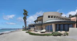 Картинки США Дома Побережье Калифорния Особняк Дизайн Dana Point Города