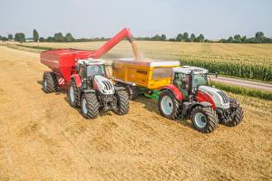 Обои Сельскохозяйственная техника Поля 2 Трактор Steyr 6300 Terrus CVT Steyr 6150 CVT