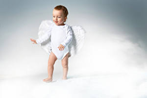 Фотография Ангелы Младенец Мальчики Крылья