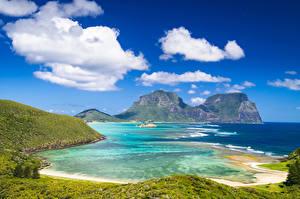Обои Австралия Берег Утес Lord Howe Island Природа