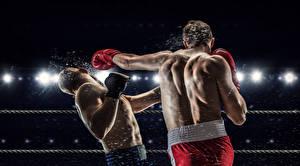 Картинка Бокс Мужчины 2 Спина Удар