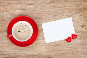 Обои Кофе Шаблон поздравительной открытки Чашка Сердце Двое Лист бумаги