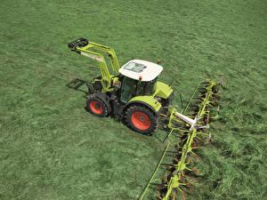 Картинка Поля Сельскохозяйственная техника Claas Arion